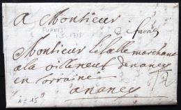 Marque Linéaire De FURNES - 1/5/1713 - Indice 15 - 1701-1800: Precursores XVIII