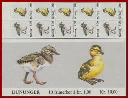 Norwegen  Markenheftchen   Vögel 1980   Mi.Nr. 811 - 812  **  Postfrisch - Booklets