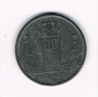 00 LEOPOLD III  1 FRANK 1942   FR/VL - 1934-1945: Leopold III