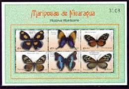 MINT NEVER HINGED MINI SHEET OF BUTTERFLIES-INSECTS   # M-660-1  ( NICARAGUA   2360 - Butterflies
