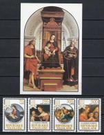 PINTURA/MADONAS - TOGO 1984 - Yvert #1150+AV512/14+H218 - MNH ** - Madonnas