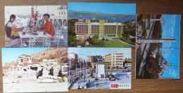 1986-1987-TURQUIE-5 CP-voir Timbres Au Verso - Turchia