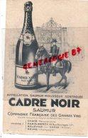 49 - SAUMUR - BUVARD CADRE NOIR - MAISON A CHACE- BELLEVILLE SUR SAONE- REIMS-PARIS BERCY - Food
