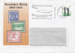 Germany Advertising Cover, Third Reich 1933-45, Sports Olympics, Cancelation Zeppelin & Old Aircraft, (Z-501) - Private & Local Mails