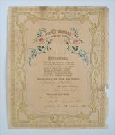 Diplôme De Baptême 1886 Fur Erinnerung An Die Heil Taufe - Réf 45S9 - Religion & Esotérisme