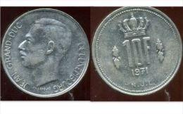 LUXEMBOURG  10 Francs 1971 - Luxemburgo