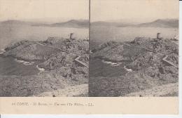 CORSE - Ile Rousse - Vue Vers L'Ile Piétra ( Carte Stéréo ) PRIX FIXE - Stereoscopische Kaarten