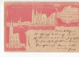 67-1081 STRASBOURG Carte En Relief - Strasbourg