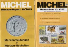 MICHEL Briefmarken Rundschau 10/2013 Und 10/2013 Plus Neu 10€ New Stamps Of The World Catalogue And Magacine Of Germany - Tijdschriften: Abonnementen