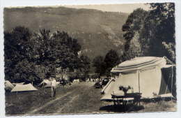 Lac D´Aiguebelette-St ALBAN DE MONTBEL-env 1950-55-Le Camp De Bouvent (animée,camping,voiture)- Carte Pas Très Courante- - Autres Communes