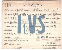 CARTE RADIO - QSL - CARTE RADIO QSL - ITALIE - ITALIA - UDINE - 1948. - Radio-amateur