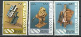 """Togo Aerien YT 445 à 447 (PA 445 à 447) """" Sculptures Picasso """" 1981 Neuf ** - Togo (1960-...)"""