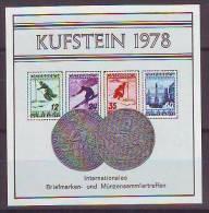 1168f: Austria Gedenkblatt Skimotiv Mit Eindruck Der FIS- Serie - Skiing