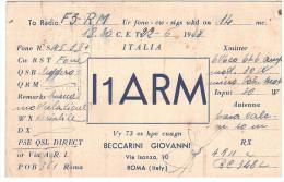 CARTE RADIO - QSL - CARTE RADIO QSL - ITALIE - ITALIA - ROMA - ROME - ITALY - 1948. - Radio Amateur