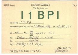 CARTE RADIO - QSL - CARTE RADIO QSL - ITALIE - ITALIA - ITALY - 1969. - Radio-amateur