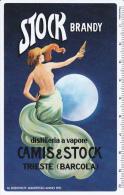 CALENDARIETTO PUBBLICITARIO PLASTIFICATO STOCK BRANDY -ANNO 1975 - Calendari