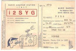 CARTE RADIO - QSL - CARTE RADIO QSL - ITALIE - ITALIA - ITALY - BRESCIA - 1976. - Radio Amateur