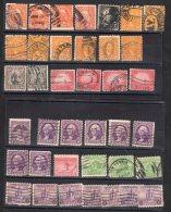 ETATS-UNIS -  LOT De  Timbres  - Oblitérés Pour La Plupart - Used Stamps