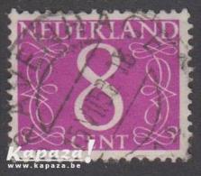 1957 - NEDERLAND - SG 639F - Jan Van Krimpen - Used Stamps