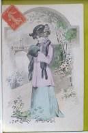 Litho Illustrateur BRUNING Bruening Femme Mode Fourrure Chapeau Voyagé 1907 Timbre Cachet Avene + Roquefort Soulzon - Bruening, Max