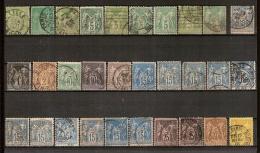 France SAGE Type I (30 X) Obl. Avec Quelque Tres RARE ! Auction Commence à 10 €  ! - 1876-1878 Sage (Type I)