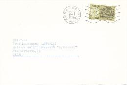 1977 £ 170 Fedeltà Contributiva Su Lettera Senato Della Repubblica Annullo Roma Senato - 1946-.. République