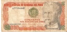 BILLETE DE PERU DE 50000 SOLES DE ORO DEL AÑO 1981 (BANKNOTE) RARO - Peru