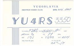 CARTE RADIO - QSL - CARTE RADIO QSL - YUGOSLAVIA - YOUGOSLAVIE - VAKUF - 1965. - Radio Amateur