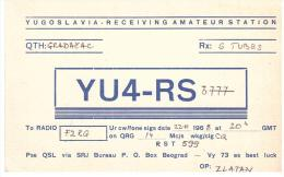 CARTE RADIO - QSL - CARTE RADIO QSL - YUGOSLAVIA - YOUGOSLAVIE - GRADACAC - 1968. - Radio-amateur