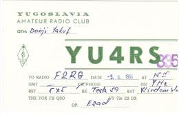 CARTE RADIO - QSL - CARTE RADIO QSL - YUGOSLAVIA - YOUGOSLAVIE - VAKUF- 1965. - Radio-amateur
