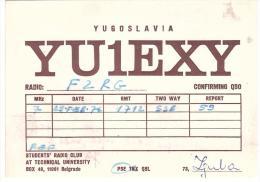 CARTE RADIO - QSL - CARTE RADIO QSL - YUGOSLAVIA - YOUGOSLAVIE - BELGRADE - BEOGRAD - 1976. - Radio Amateur