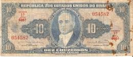 BILLETE DE BRASIL DE 10 CRUZEIROS  (BANK NOTE) - Brazil