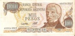 BILLETE DE ARGENTINA DE 1000 PESOS DEL AÑO 1983-84   (BANKNOTE-BANK NOTE) - Argentina