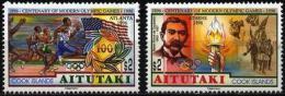 Olympic Games Aitutaki 1996 #759/60 Atlanta MNH ** - Ete 1996: Atlanta