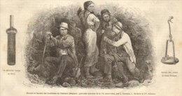 Mineurs Et Femmes Des Houillères De Charleroi. 1867 - Unclassified