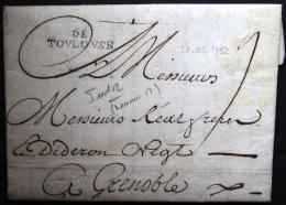Marque Linéaire De TOULOUSE - 20/5/1752 - Indice 12 - Storia Postale