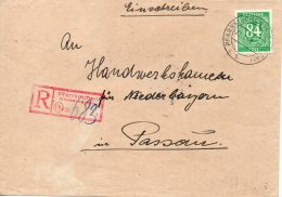 ALLEMAGNE ZONE AAS LETTRE RECOMMANDEE PFARRKIRCHEN 1948 - Deutschland