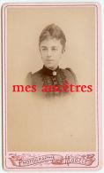 CDV Identifiée -jeune Femme-Lucie MALLAS épouse Lefrançois-photo Vandenabiel - Old (before 1900)