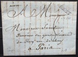 Marque Linéaire De NIORT - 9/7/1785 - Indice 8 - Marcofilia (sobres)