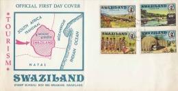 1972 SWAZILAND, 4 Fach Frankierung Auf First Day Cover - Swaziland (1968-...)