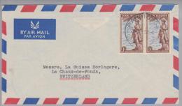 Ozeanien Cook Island 1953-04-29 Rarotonga Brief Nach Chaux-de-Fonds CH - Cook