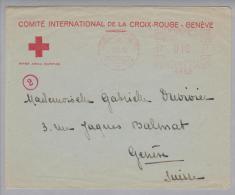 Motiv Rotes Kreuz Genève11 1940-09-07 Firmenfreistempel Auf Brief RK - Timbres