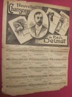 Nouvelle Chanson De Paul Delmet :  ALCESTE + Publicité Comment Prend Un Croquis  Théâtre Partition Musicale Ancienne - Partitions Musicales Anciennes