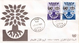 1960 LIBYA, 2 Sondermarken Mit Sonderstempel - Libyen