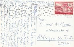 1963 Griechenland, Sondermarke Auf Ak NAEPNON - Griechenland