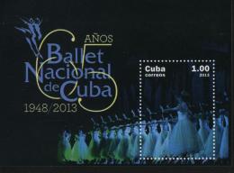 CUBA 2013  MNH Ballet Souvenir Sheet - Cuba