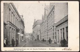 Enschede - Haaksbergerstraat Met Het Nieuwe Postkantoor - 1904 Grootrondstempel GRHK0313 Wormerveer - Enschede