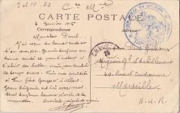 SEINE ET MARNE - 20e REGIMENT TERRITORIAL D'INFANTERIE*11e Cie LE CAPITAINE COMMANDANT* LE 3-1-1915 - CARTE POSTALE CHEL - Postmark Collection (Covers)