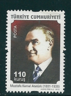 Turkey 2010 Definitive - Kemal Ataturk (1881-1938) MNH T0388 - Nuevos