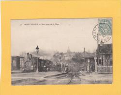 CPA - 80 - MONTDIDIER - 75. Vue Prise De La Gare - Train Beau Plan - Montdidier